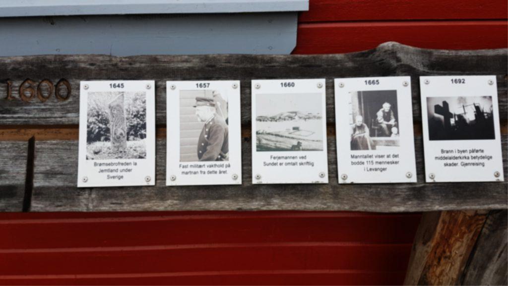 1000 års stokken på Dampskipsbrygga i Levanger