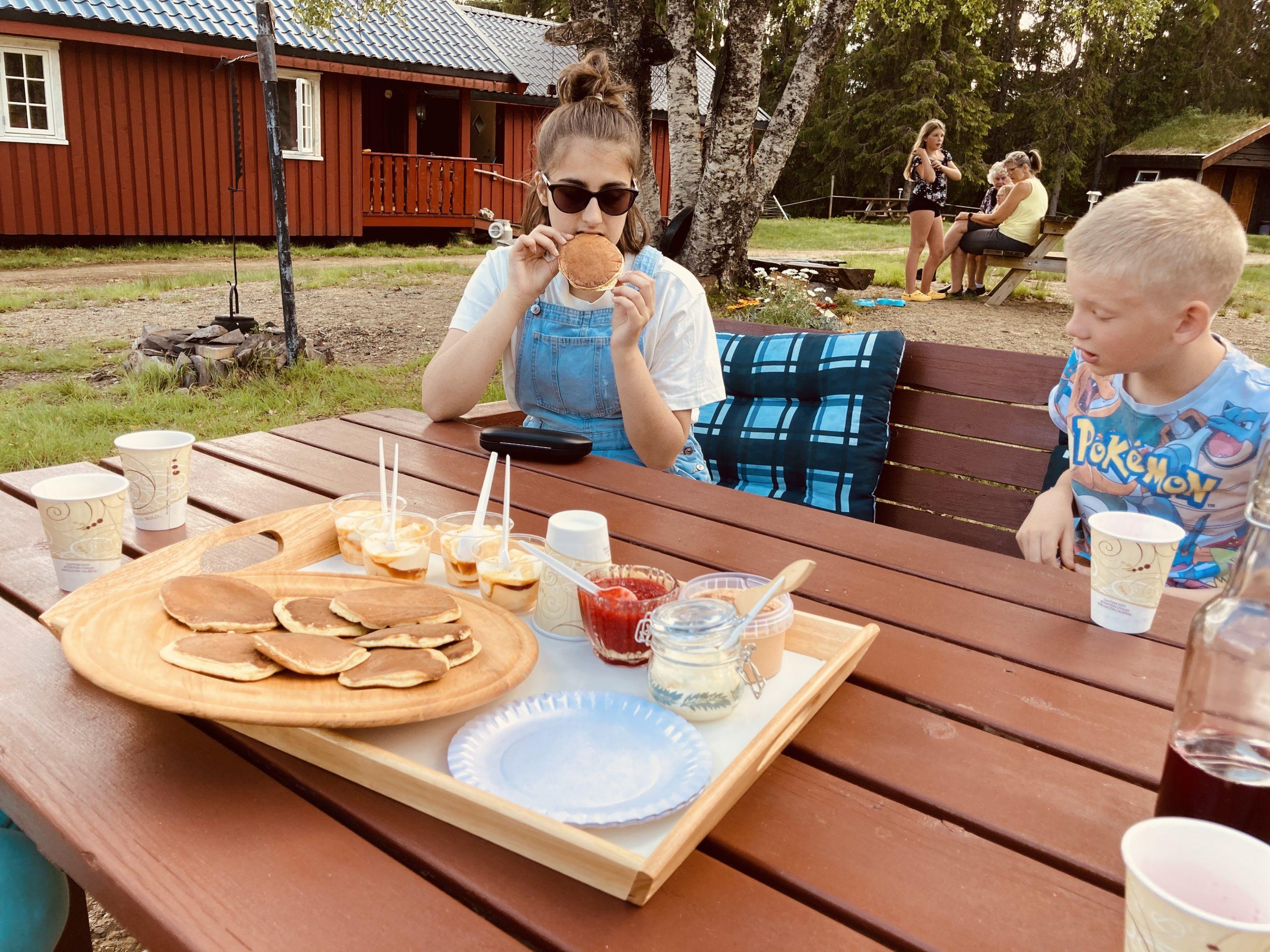 Sveler med rømme nytes på Holsingseteren i Snåsa. Foto: Visit Innherred
