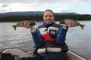Fiskelykke på Snåsavatnet