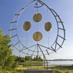"""Skulptur """"Flyndra"""" i Muustrøparken"""