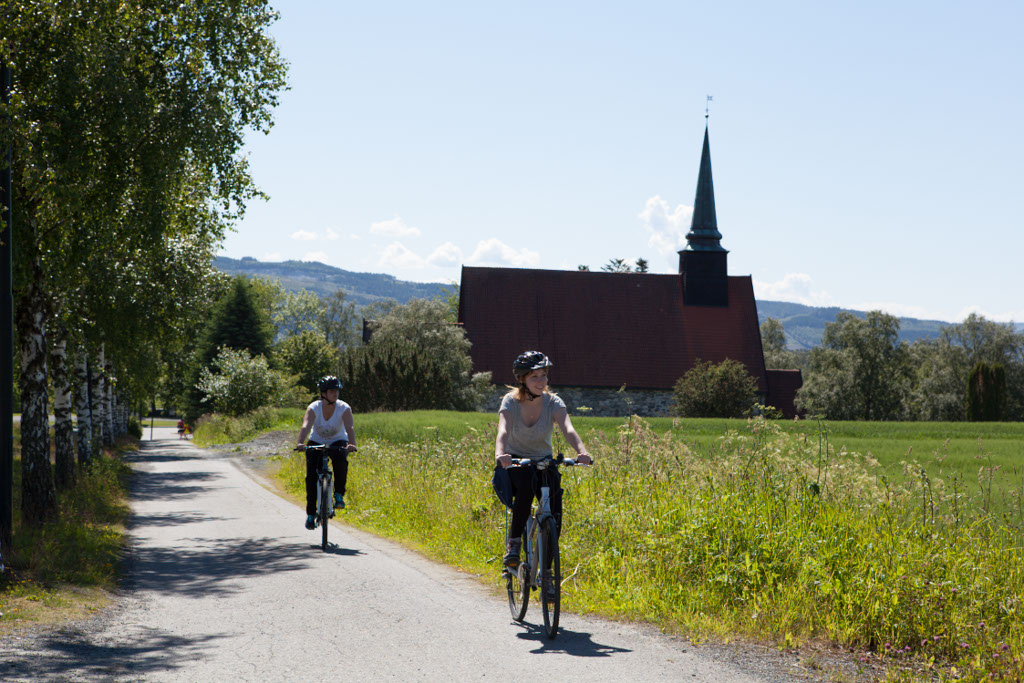 Sykle Norge på Tvers via Stiklestad