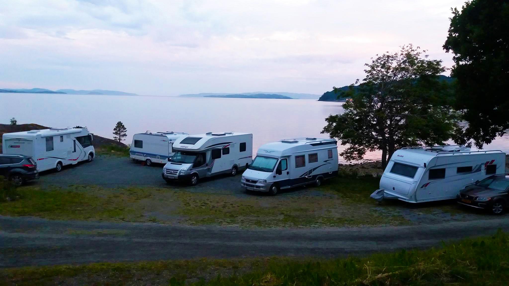 Bobiler hos Koa Camping i Inderøy