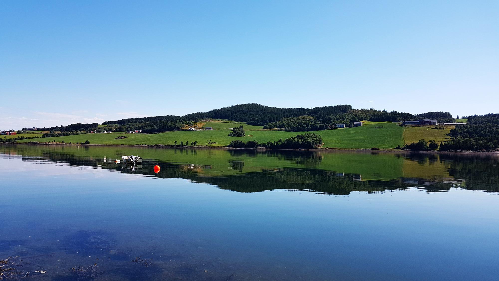 Verran med ustikt over Beistadfjorden. Foto: Visit Innherred