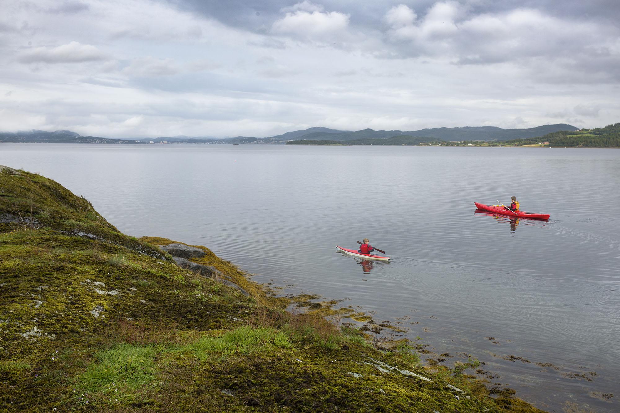 Kajakking på Skjelvågen i InderøyInderøy